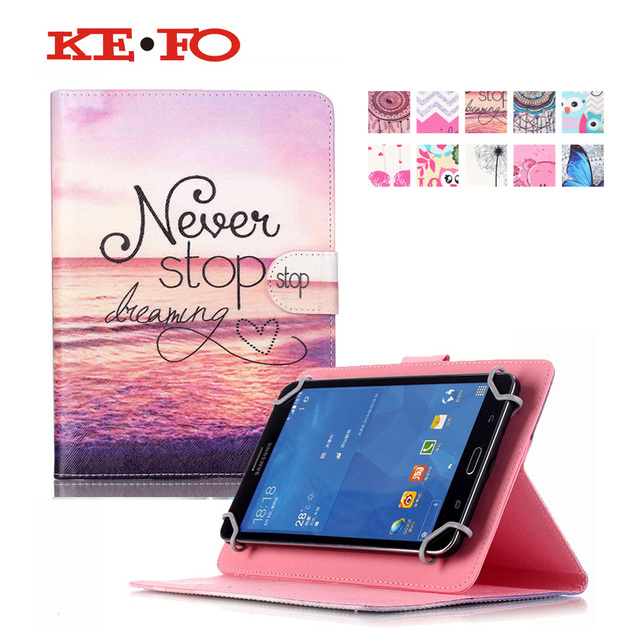 Print style PU Leather Stand Cover Case For Irbis TX18/TX17 7.0 inch Universal Tablet for kids with card slots S4A67D