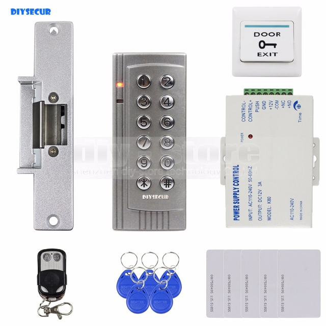 diysecur k4 diy remote control 125khz rfid em reader door access
