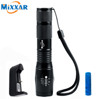 ZK30 CREE XM L T6 4000LM LED Flashlight Torch LED 5 Mode Zoomable Flashlights Light For