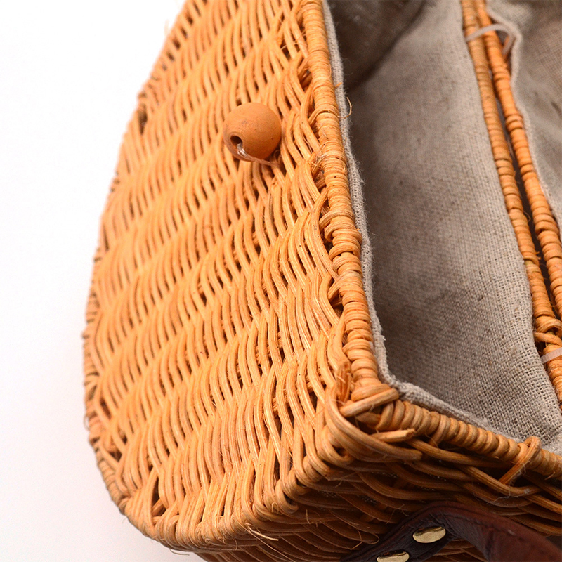 Cover Bamboo Female Rattan Straw Bag Woman Handbag Bolso Mimbre 45 4