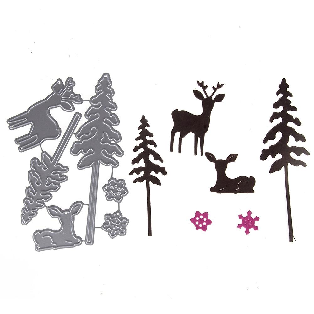 Christmas Metal Cutting Die Scrapbooking Embossing Stencil Making tree deer dies