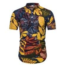 MarKyi fashion chinese style short sleeve mens mandarin collar shirts good quality silk hawaiian shirt