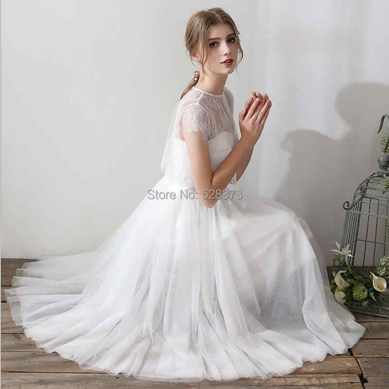 ... YNQNFS IWD10 With Detachable Jacket Wrap Tea Length Bridal Dress Gown  Wedding Party Dress Bridesmaid Dress ... f65638d49a0a