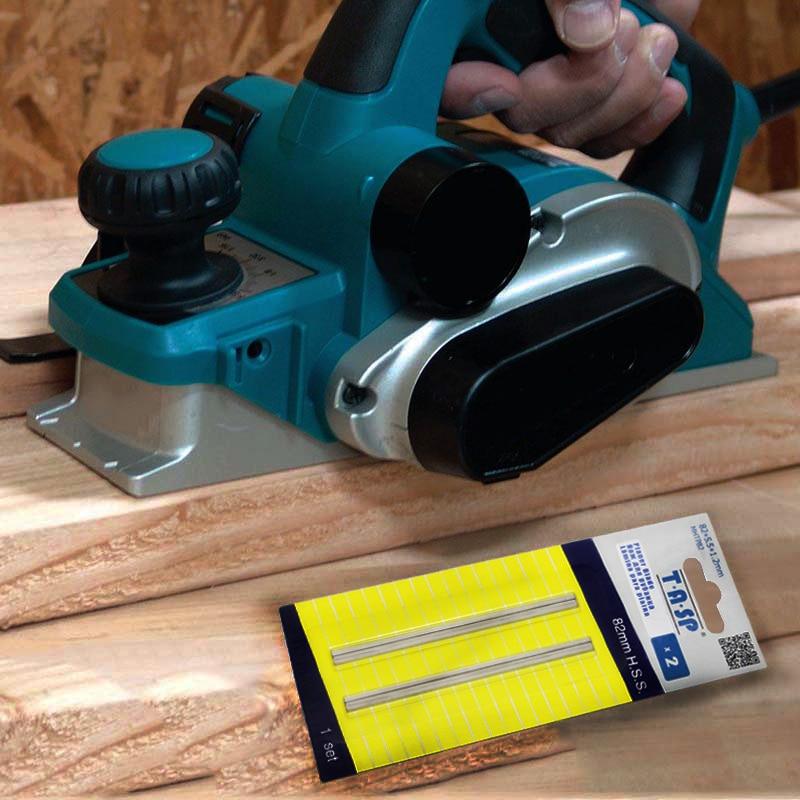 TASP 5 pares 82mm hoja de cepilladora de madera HSS reversible - Piezas para maquinas de carpinteria - foto 6