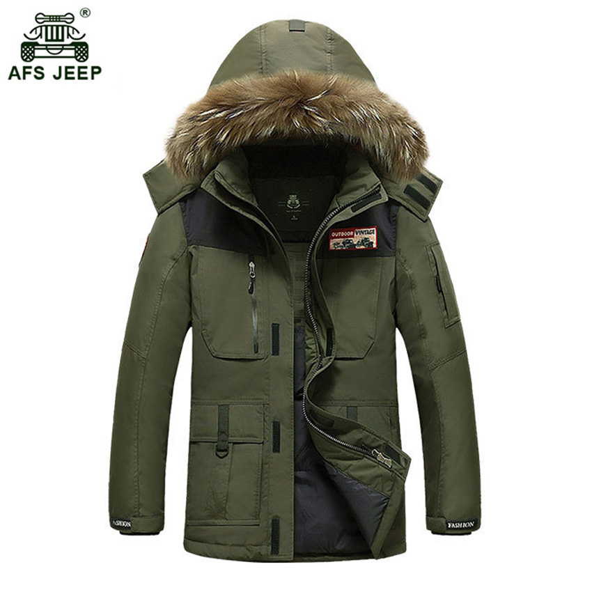 2018 brand clothing jackets thick keep warm mens duck down jacket high quality fur collar hooded down jacket winter coats 268wy