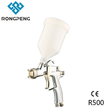 Rongpeng LVLP Air Spray Gun R500 Car Finish Painting tool 1.5mm Nozzle 600cc Cup Gravity feed copper air cap factory wholesale free shipping soonrise t50b car painting gun hvlp spray gun 600cc plastic cup gravity feed type 1 3mm nozzle