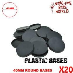 20 шт. 40 мм игровые миниатюрные пластиковые круглые основы для wargames