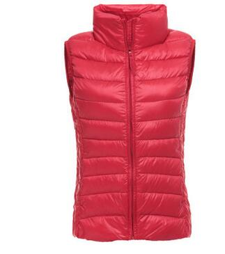1pcs/lot free shipping korean style woman down vest lady casual slim vest solid winter down vest candy colors S-3xl