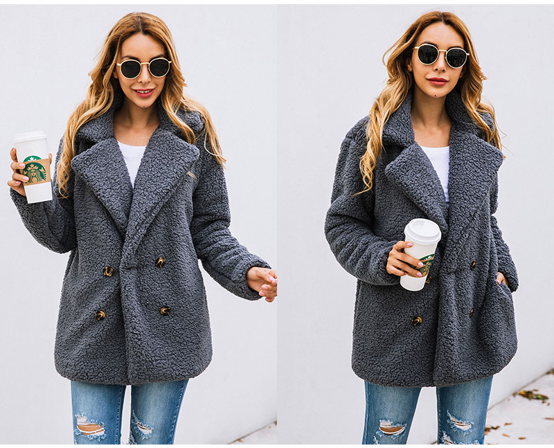 HTB1DcODblr0gK0jSZFnq6zRRXXaT Lossky Women Long Sleeve Autumn Winter Thick Warm Jacket Coats Plus Size Loose Button Pocket Pink Lady Plush Flannel Overcoat