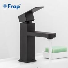 Frap квадратный черный кран для ванной комнаты из нержавеющей стали смеситель для раковины аксессуары для ванной комнаты кран для раковины ванной комнаты Смеситель Y10170