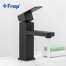 Frap Basin Mixer Bathroom Faucet Tap-Y10170 Stainless-Steel Black Square New