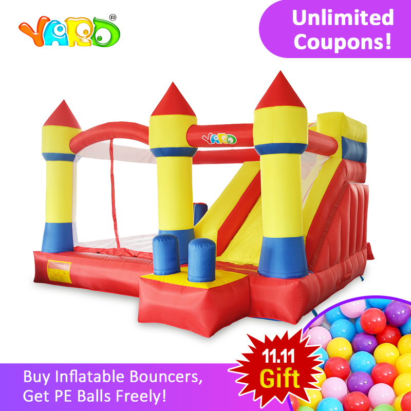 YARD Home Used Inflatable Bouncy Castle 4 x 3.8 x 2.5m Inflatable Bouncer Slide Inflatable Trampoline for Kids with Free Blower factory direct inflatable trampoline inflatable castle inflatable slide obstacle cn 124