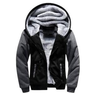 Image 3 - FOJAGANTO Brand Men Hoodies Autumn Winter Male Splice Pullover Hoodies Mens Sweatshirts Thick Section Hoodie Coat