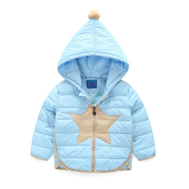 New Winter Girls Down Jacket Children's Clothing Baby Girls Cotton-Padded Warm Coats Hooded Jacket Kids Thick Coats Outerwear