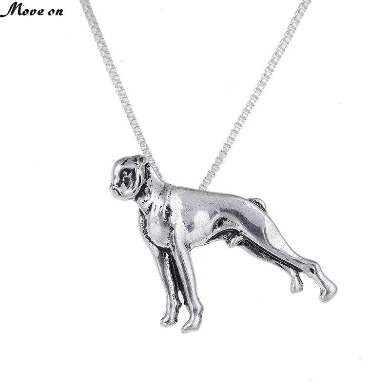 10Pcs Boxer Pendant Boxer Necklace Dog Pendants Dog Necklaces Jewelry Animal Women Boho Pendants Necklace Memorial Gift