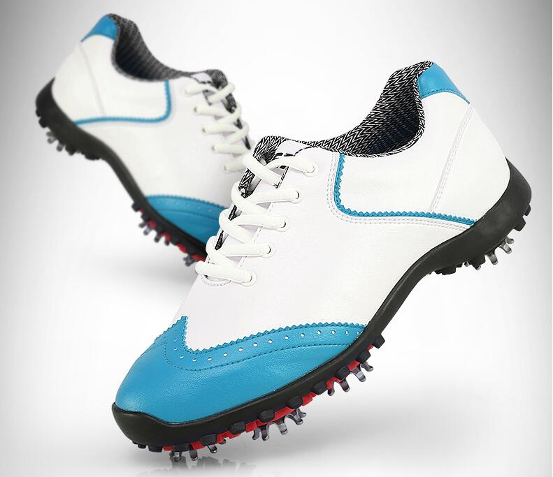 High quality!PGM Women Golf Sports Shoes Light Weight & Steady & Waterproof & Anti-Sideslip Technology,Free shipping pgm golf clothing bag waterproof genuine leather top quality golf shoes bag high capacity double layer sports bag handbag