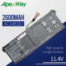 Apexway AC14B18J New Laptop Battery for Acer Aspire E3-111 E3-112 E3-112M ES1-531 B116 MS2394 B115-MP AC14B13j N15Q3 N15W4 for acer aspire es1 531 n15w4 screen matrix for laptop 15 6 edp 30 pin led display