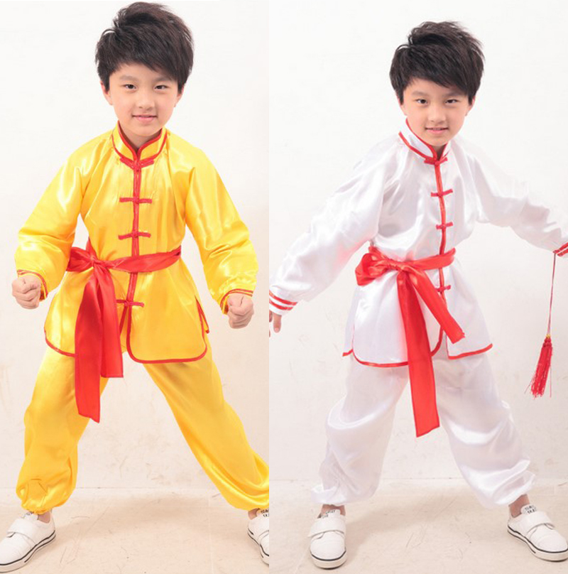 Adult Children boy girl Dobok Chinese traditional Wushu Costume Kimono Judo clothing Kung Fu Suit Tai Chi Martial Art Uniform