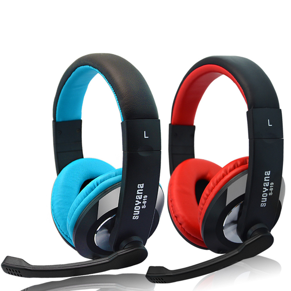 Bass Surround Srereo Headsets Headphones With MIcrophone For iPhone/ iPad PC MP3 Ergonomic ensure smooth Soft leather Volume