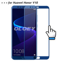 For Huawei Honor V10 Full Cover Screen Protector 3D 9H Tempered Glass All Coverge Film On