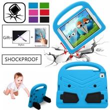 цена на For Apple iPad 2 3 4 9.7 EVA Shockproof Case for iPad2 ipad3 ipad4 Funda Coque Children Kids Cute Wings Stand Protective Cover
