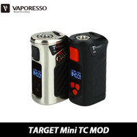100 Original Vaporesso TARGET Mini Box Mod 1400mAh Temp Control Mod E Cigarette TC40W Box Mod