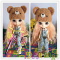 Brand New Light Orange Fluffy Curly Bly the/Pullip Doll Wigs