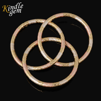 Brand CC High Quality Real Gold Plated Cuff Bangle Set Fashin Pink Withe Painting Nigerian African
