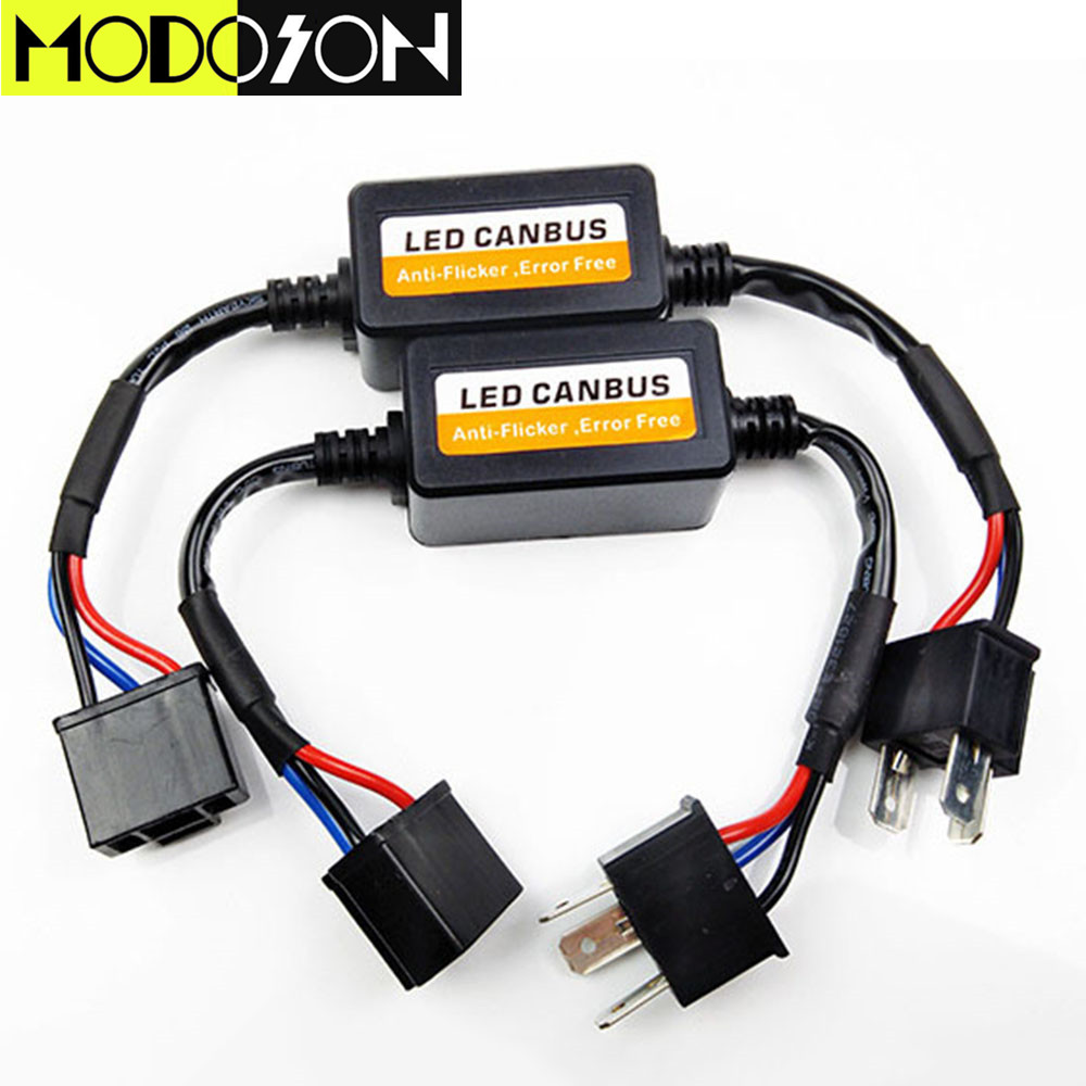 Modoson Led Car Headlight Canbus Wiring Harness Adapter H4 H7 H11 H13