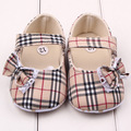 Fashion brand Plaid baby girl prewalker shoes soft sole shoes bowknot infant leisure first walkers girls toddler shoes summer