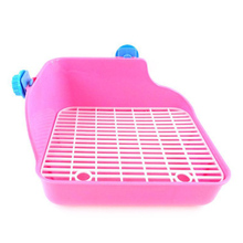 Pet Cat Rabbit Pee Toilet Plastic Small Animal Toilets Hamster Guinea Pig Litter Tray Corner Pet Litter Training Tray 24*18*11cm