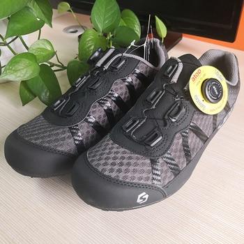 9b0e7c38fd6 SIDEBIKE transpirable ciclismo zapatos hombres mujeres antideslizantes  carretera bicicleta de montaña MTB zapatos con suela de goma plana tamaño  europeo 36- ...