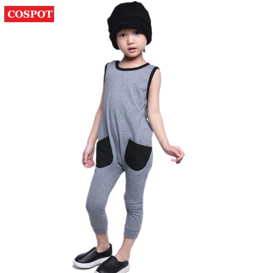 COSPOTBaby Boys Girls Summer Rompers Kids Palmer Stree Playsuits Boys Jumper Children Fashion Jumpsuit 2018 New Arrival 40