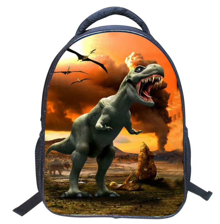 New Cool Children School Bags Kids Dinosaur Print Preschool Kindergarten Book Bag Boys Students Dragon Schoolbag Mochila Escolar
