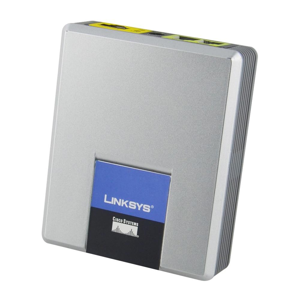 Linksys desbloqueado melhor tipo spa2002 voip adaptador de telefone analógico com 2 portas de telefone fxs adaptador voip
