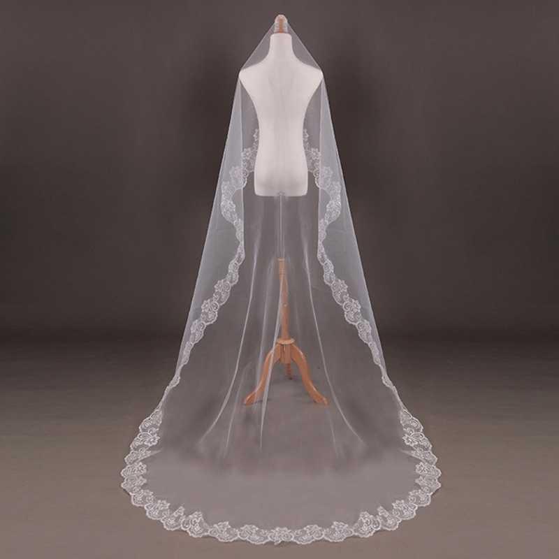 150cm Frauen Braut Kurze Hochzeit Schleier Weiß Eine Schicht Spitze Blume Rand Appliques hochzeit zubehör für frauen braut