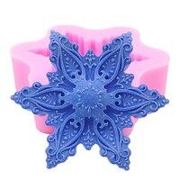 2017 Kar Tanesi Tasarım 3D Sabun Kalıp Çikolata Fondan Kalıpları El Yapımı Sabun için Silikon Kalıplar Yapma