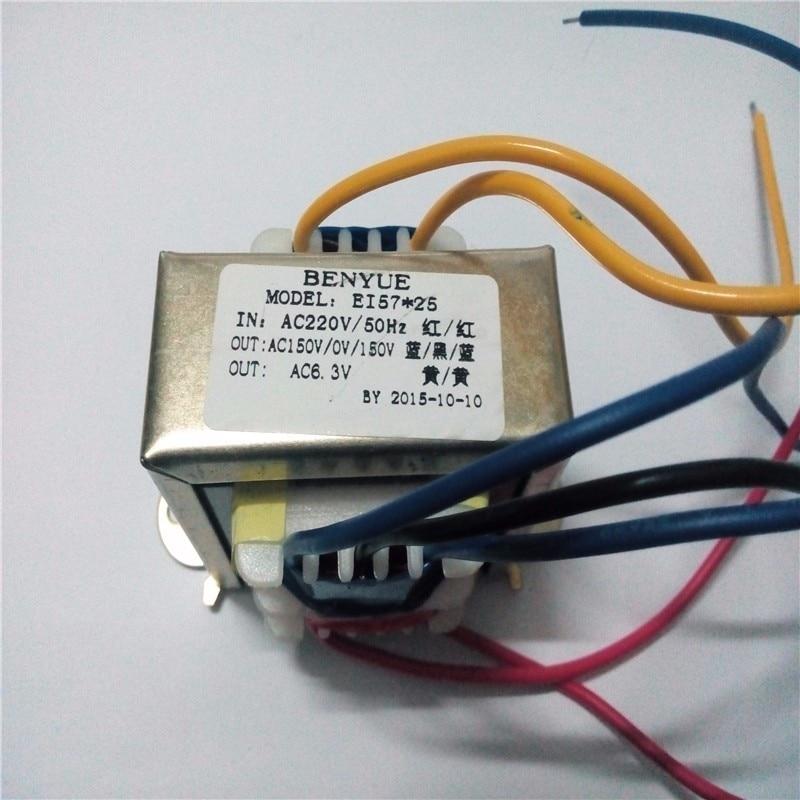 Transformador de saída 150vac-0-150vac + 6.3vac para