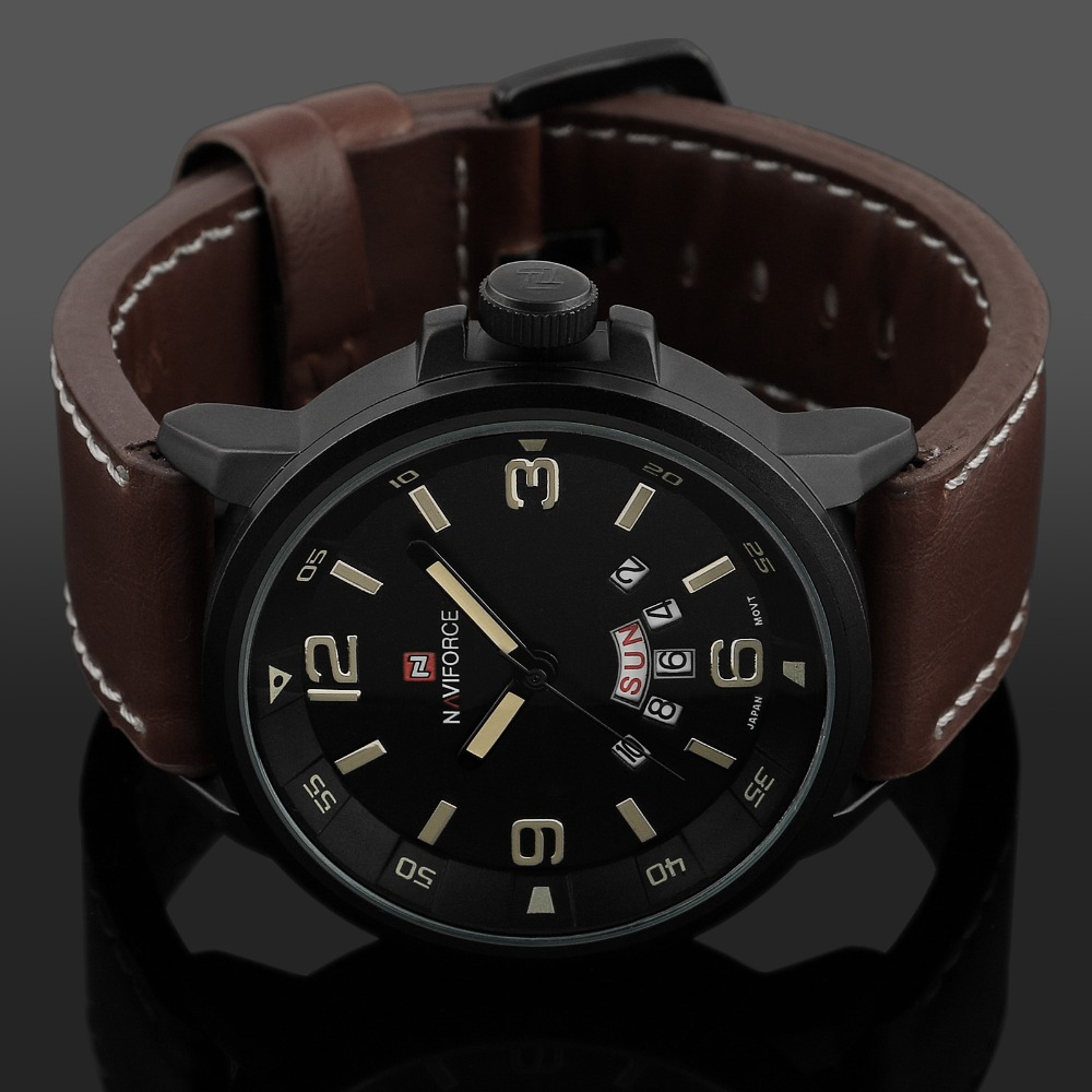 2016 new brand fashion men sports watches men s quartz hour date 2016 new brand fashion men sports watches men s quartz hour date clock man leather strap military army waterproof wrist watch in quartz watches from watches