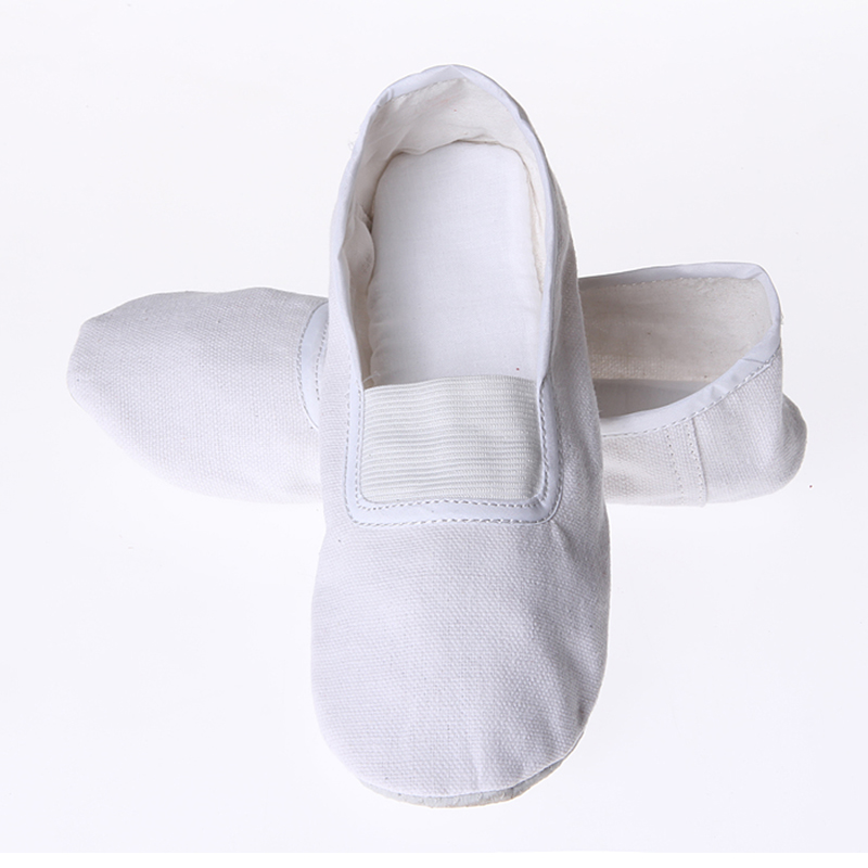 USHINE EU22-45 Indoor Yoga Slippers Gym Teacher Fitness Yoga Ballet Dance Shoes For Girls Woman Ballet Shoes Canvas Man Children