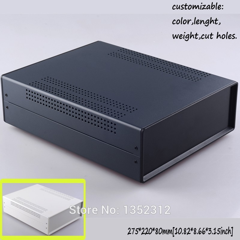 ФОТО One pcs 275*220*80mm iron enclosures for electronics iron project box DIY outdoor junction box instrument case switch box