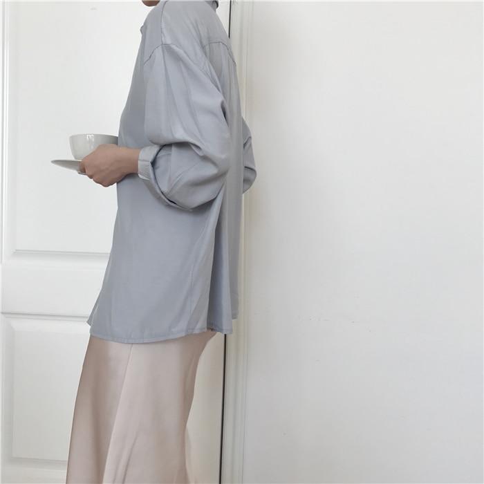 summer elegant high waist women long skirt solid A-line faldas mujer female solid slim jupe femme saia longa 2