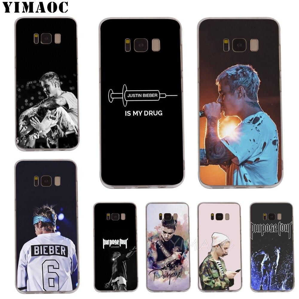 Intellective Yimaoc Justin Bieber Purpose Tour Soft Case For Galaxy J3 J5 J6 J7 A5 2016 2017 A6 A9 2018 Note 8 9 S7 Edge S8 S9 S10 Plus S10e Cellphones & Telecommunications Fitted Cases