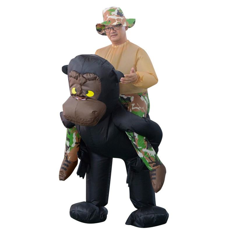 INFLATABLE RIDING GORILLA COSTUME Animal Themed Gorilla Cosplay - Maskeradkläder och utklädnad - Foto 3