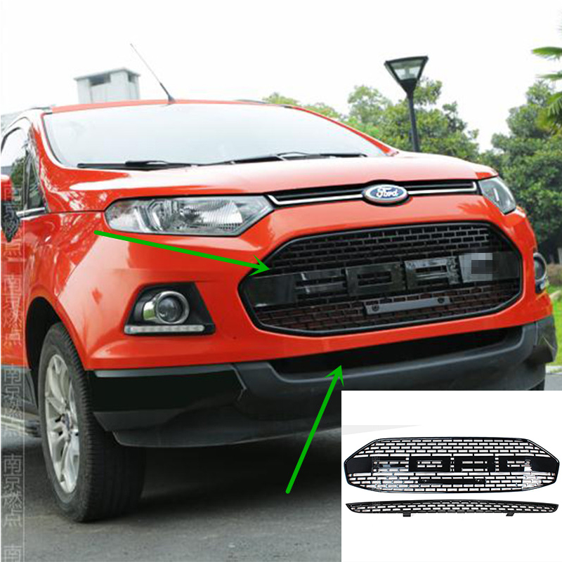Ford Ecosport Price >> 2 PCS/SET For Ford EcoSport Modified F150 Style Front Hood Center Grille Grill Car Styling 2012 ...