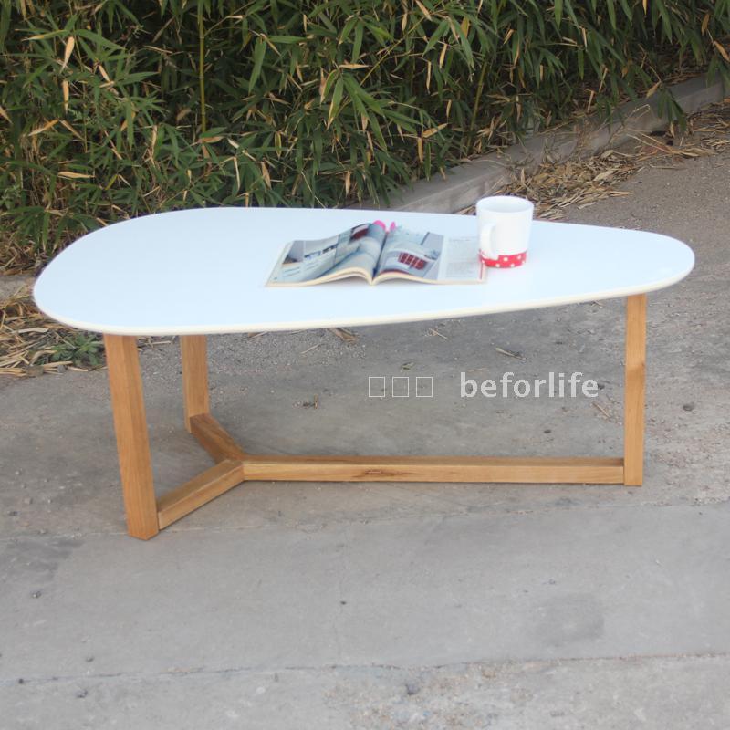 Teardrop Shaped Oval Coffee Table Wood