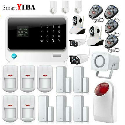 SmartYIBA WIFI Home Alarm Security SMS Call App Push Alert GSM Alarm Surveillance Camera WIFI Plug Control Home Appliance System image