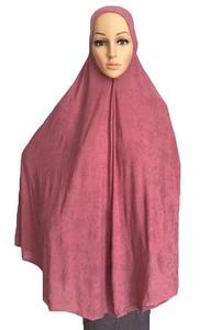 Image 3 - فستان نسائي مصلاة للمسلمين وشاح طويل Khimar حجاب إسلامي كبير ملابس علوية رداء الصلاة قبعة Niquabs مطبوع حجاب أميرة