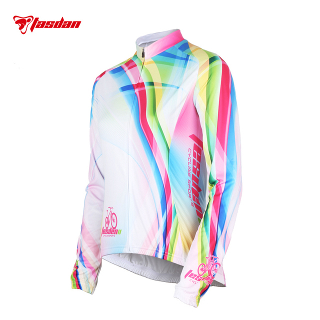 Tasdan Long Sleeve Cycling Uniforms Sports Suit 3D Gel Pad Ladies Cycling Jerseys Sets