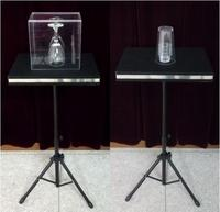 Free Shipping Coin In Glass And Glass Breaking Table Case Table Base Magic Tricks Mentalism Stage